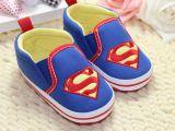 一件代发 蓝色超人宝宝鞋/春秋软底防滑婴儿鞋/0-1岁外贸学步鞋