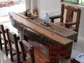 黄山实木家具办公桌茶桌椅子老船木客厅家具沙发茶几茶台餐桌案台