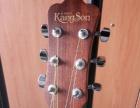 kingson民谣木吉他初学者40寸送琴包教程书
