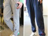 2014春款时尚百搭简洁个性女宽松休闲瑜伽运动长裤潮女薄款卫裤