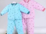 婴幼儿秋冬季加大衣套装批发宝宝棉衣套装冬季加厚保暖棉衣两件套