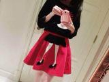 韩国代购套裙欧洲站春秋女装重工刺绣上衣半身裙丝绒套装