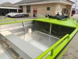 5.2米綠色小快艇 鋁合金路亞艇 沖鋒舟 公務艇浮筒船