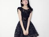 2295一件代发韩国专柜时尚裙名媛大牌蕾丝拼接雪纺印花气质连衣裙