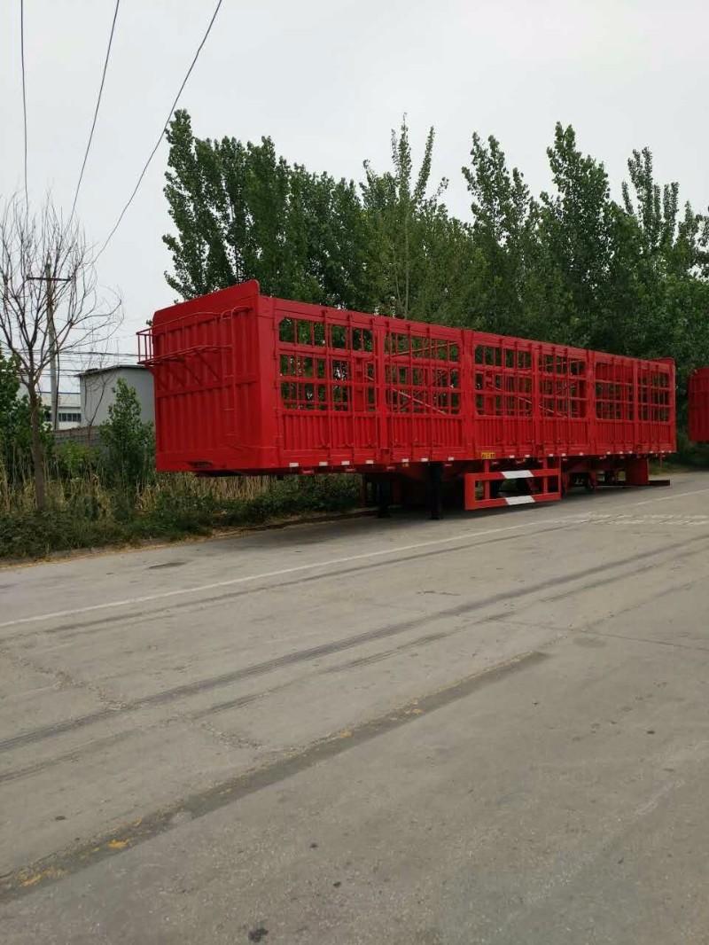 厂家定做花栏 苍栏骨架 后翻自卸 半挂车全国包上户