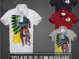 2014夏季正品 夏装af美式休闲男T恤棉短袖翻领POLO衫男装