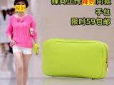 2014新款辣妈正传孙俪同款包包手拿包女包潮荧光绿化妆包