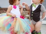 夏季新款童装可爱男童绿色小领结短袖包屁衣帅气绅士护肚哈衣爬服