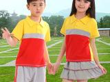 厂家直销2014夏装中小学生校服订制 纯棉儿童班服幼儿园园服批发