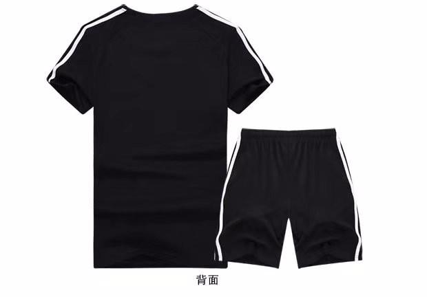 Adidas阿迪达斯短袖短裤套装男子运动 休闲透气T恤