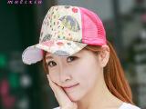 韩国版潮款夏天女士蕾丝枫叶网帽 户外遮阳帽防晒棒球帽帽子