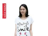 一件代发夏装韩版时尚孕妇T恤夏短袖宽松大码上衣韩国白色夏季