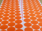 供应 橙色硅胶垫 3M半透明圆形硅胶垫