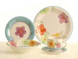 外贸手绘陶瓷餐具 炻瓷餐具 炻瓷手绘炻瓷 咖啡杯  中秋国庆礼品
