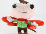热销儿童毛绒玩具 卡通小男孩企业形象公仔 可爱蜻蜓玩具玩偶批发