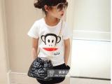 时尚卡通儿童百搭T恤上衣 女多可爱童纯棉休闲短袖 童T恤一件代发