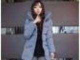 韩版流行新款女式棉服外套 品牌加厚中长款立领蓬蓬女士棉衣女装