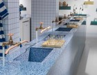 固安水磨石厂家专业承接水磨石地坪的设计与施工 水磨石砖 吧台