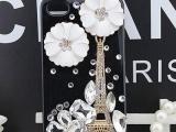 铁塔iphone5s5c手机壳贴钻 iphone4 4s手机壳水
