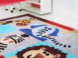 家用可爱卡通婴童地垫卧室客厅茶几垫动物地中海风格儿童房间地毯