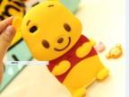 苹果5G/ iphone5S小熊硅胶手机壳 迪士尼 3D维尼熊可爱卡通保护套