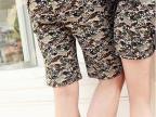 2014新款韩国情侣装夏装裤骷髅印花迷彩短裤情侣裤休闲中裤