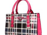 2014新款复古格子包潮欧美单肩大包包手提斜跨包 女包 厂家直销