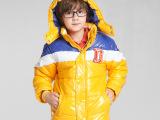 2015冬季童装新品上市 时尚拼色男童棉衣 保暖儿童棉服外套批发