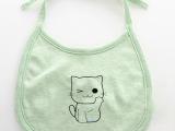 纯棉防水婴儿口水巾 系带双层宝宝围嘴 全棉儿童新生儿围兜食饭兜
