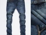 欧洲站男士牛仔裤 青少年流行时尚修身牛仔裤男装直筒休闲裤批发