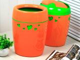 批发创意欧式家用摇盖塑料垃圾桶大号爱心无盖办公室厨房客厅卫生