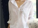 2014春装新品女式衬衫批发 厂家直供大码衬衣 纯棉长款上衣