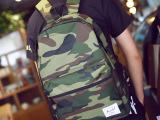 招代 2014韩版背包时尚潮男包包日系复古运动迷彩双肩包学生书包