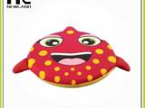 海绵飞盘 安全可靠质地柔软 棉绳飞盘 儿童较喜欢的玩具飞盘