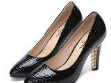2014新款女式鞋高跟鞋石头纹真皮单鞋品牌女鞋珍珠装饰跟