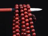 隆华轩批发 印度小叶紫檀 108颗手工磨佛珠手链老料高密超油润