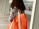 户外旅行包 多功能变换环保帆布叠收纳包 单肩包 大容量旅行包包