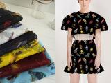 实力厂家专业生产印花家纺床品面料 优质产品涤纶欧根纱印花布