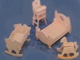 床/DIY益智玩具/3D仿真木制模型/手工自装益智玩具/科教拼图