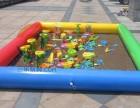 彩色充气沙滩池三乐厂订制各种规格