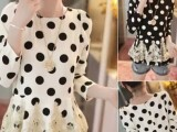 2014新款女式连衣裙 品牌女装代理加盟 蕾丝雪纺拼接长袖连衣裙