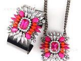 热卖糖果色树脂水晶项链链袖口手镯 欧美风格  产家直销