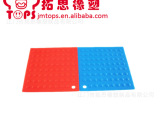 供应硅胶方形隔热垫 大号防烫垫  防滑碗垫盘垫