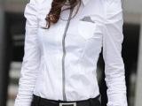 女士衬衫新款通勤韩版泡泡袖职业女装长衬衫女长袖女衬衣