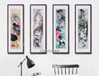 武汉展会装饰字画现货批发、中南路手绘国画定制裱框安装