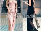 2014夏季新款连衣裙 韩版纯色莫代尔吊带长裙 V领性感高腰长裙