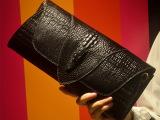 2014欧美新款外贸女包包潮 鳄鱼纹女士手拿包品牌手提包真皮女包