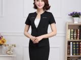 DJY新款OL职业女装夏工作服西服短袖裙套装女职业西装黑色一步裙