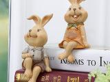 创意工艺礼品田园装饰摆件树脂动物摆件兔子