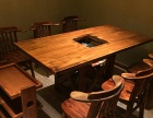 天津火锅电磁炉桌椅 自助火锅桌椅 火锅专用桌